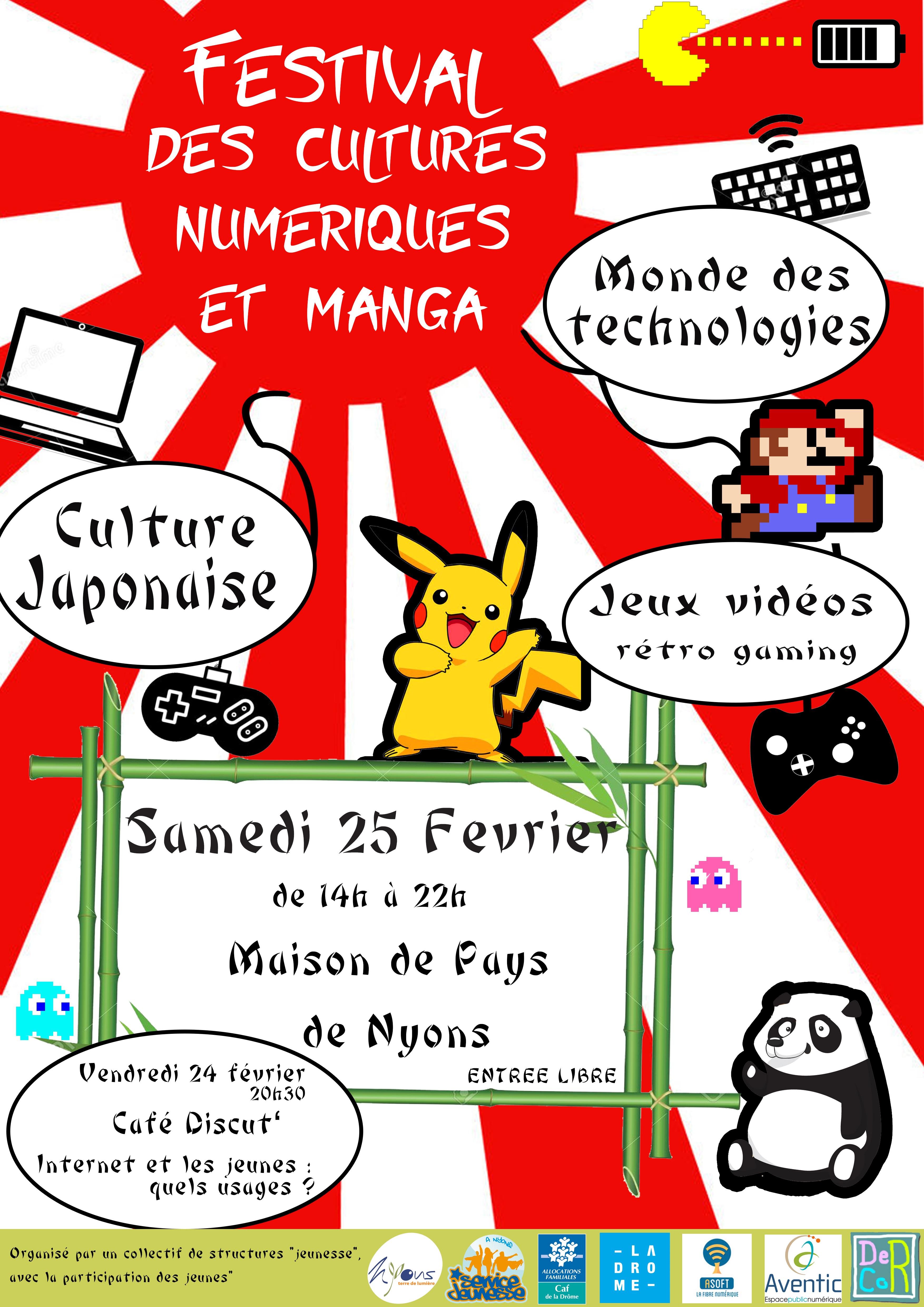 Festival cultures numériques et manga 2017