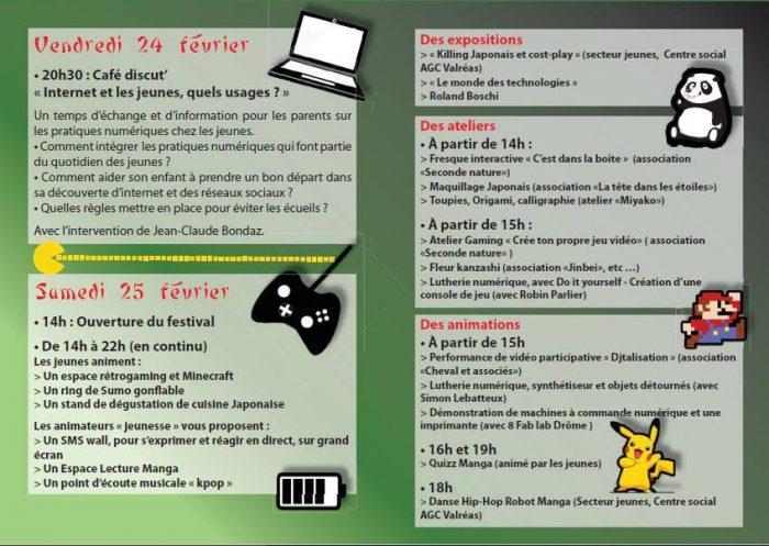 programme festival cultures numériques et manga