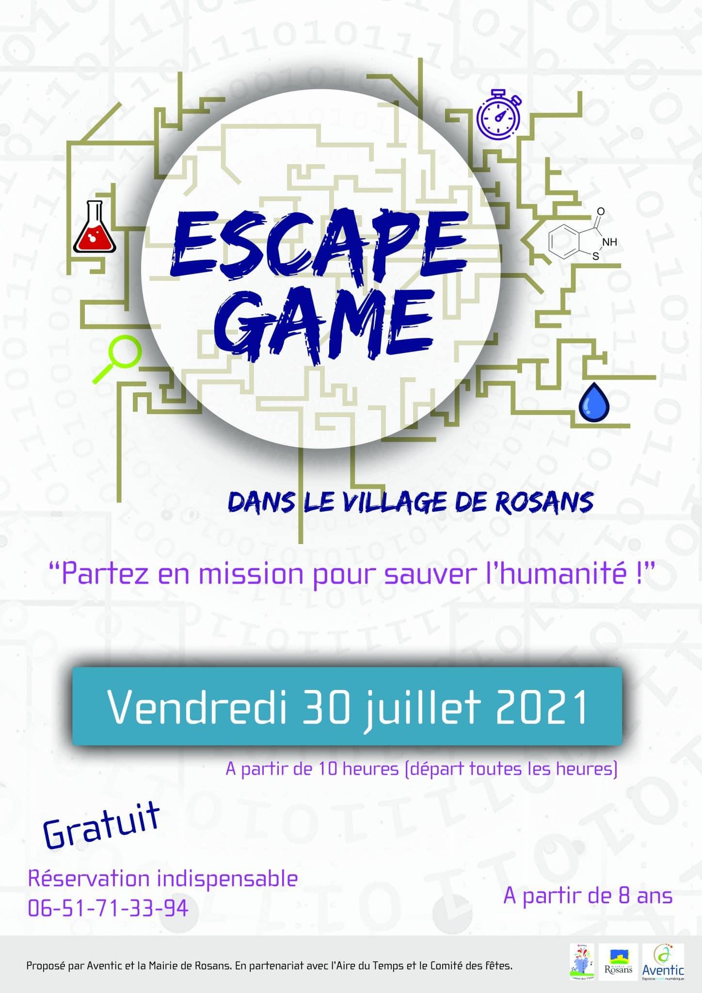 Escape game à Rosans - 30 Juillet 2021
